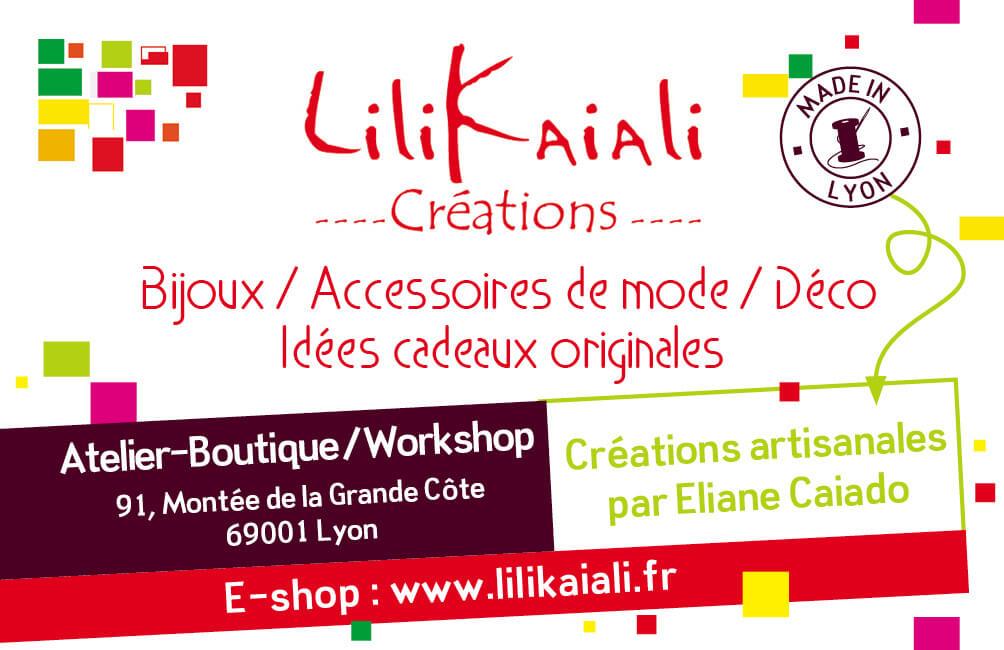 Carte De Visite La Boutique Lilikaiali